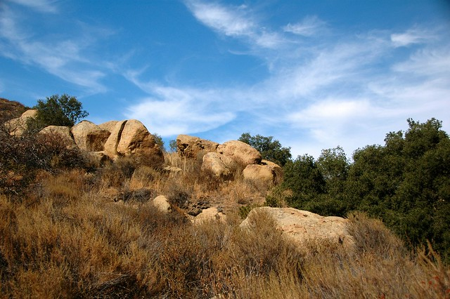Rocks along Silverado Creek Trail