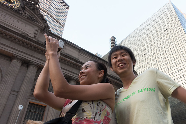 Couple from Japan at Manhattanhenge