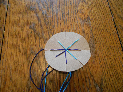 Friendship Bracelet Braiding Disk (Photo from Almost Unschoolers)