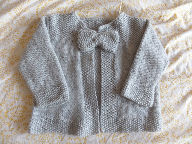 Finished Bow Cardigan for Jasmine