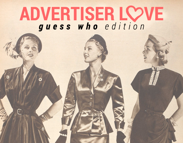 Advertiser Love // Guess Who!