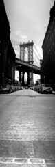 Vertorama of the Manhattan Bridge - w/ Empire State in the distance