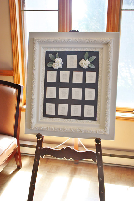 A Simple & Elegant Vintage Frame Seating Chart {Wedding Wednesday ...