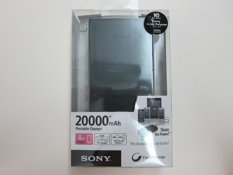 Sony CP-B20 20000mAh USB Portable Charger - Packaging Front