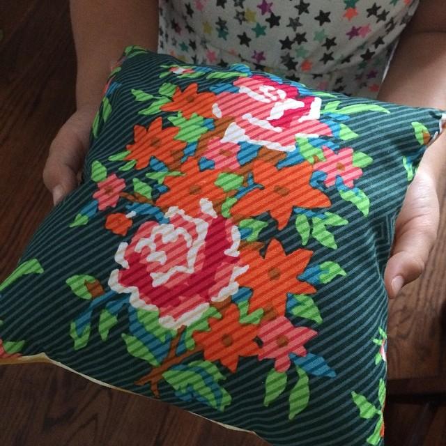 Mini squishy pillow ❤️all done! #sewingclass #homeschool #summerfun #annamariahorner