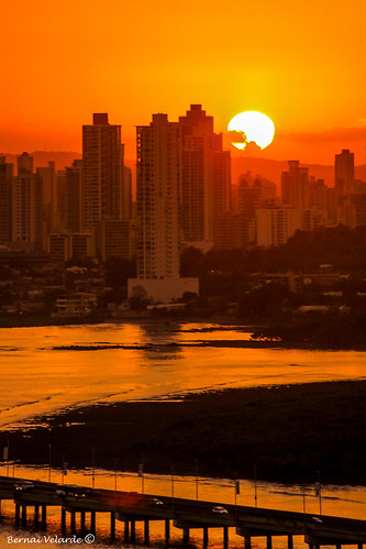 republica city sunset sea © america buildings atardecer mar republic country centro central ciudad panama pais cental velarde bernai bernaivelarde