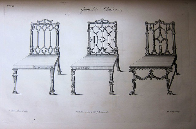 chippendale chairs plate xxi gothic