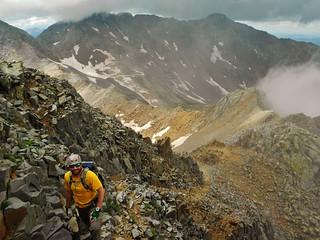 Descending Wilson Peak