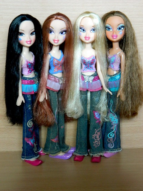 Jade,Breanna,Cloe and Yasmin Bratz Fashion Pixiez 2007 - a ...