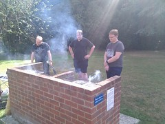 Charlie, Jon and Phil at the BBQ