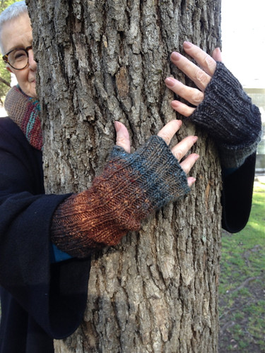 Unmatched mitts and tree