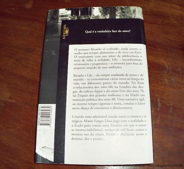 Sinopse, contracapa, Travessuras da Menina Má, Mario Vargas Llosa, livro, resenha, trechos
