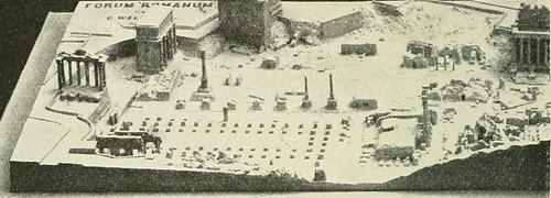 """1). ROMA ARCHEOLOGIA e RESTAURO ARCHITETTURA: G. Boni - """"Plastico del Foro Romano che mostra lo 'stato attuale' delle rovine nei primi anni del 20 ° secolo"""" (The Metro. Museum of Art), in: T. H. Reed, """"LOYAL CITIZENSHIP,"""" WORLD BOOK : NEW YORK (1922)."""