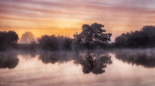 morning trees england mist reflection water sunrise dawn unitedkingdom sony riverthames oxfordshire a77 littlewittenham sonyalpha andyhough slta77 andyhoughphotography