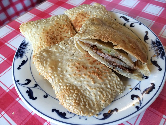 Sesame pancake with marinated beef - Kingdom of Dumpling