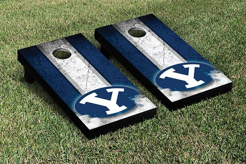 Brigham Young University BYU Cougars Cornhole Game Set Vintage Version 2