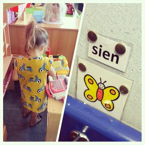 Vlindertje Sien zag de nieuwe school helemaal zitten!