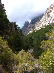 Le sentier peu au-dessus du premier départ du canyoning