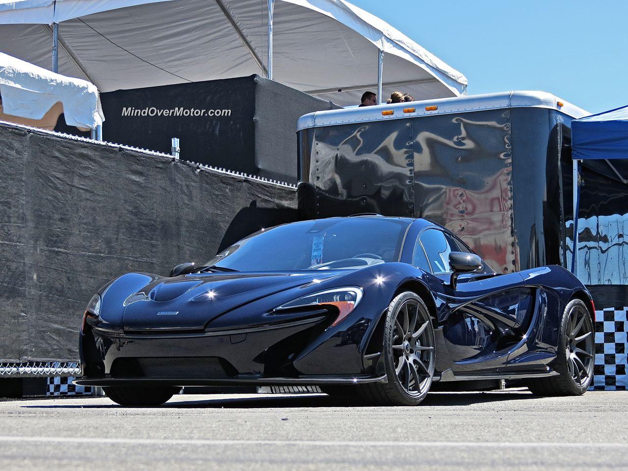 Blue McLaren P1 Laguna Seca