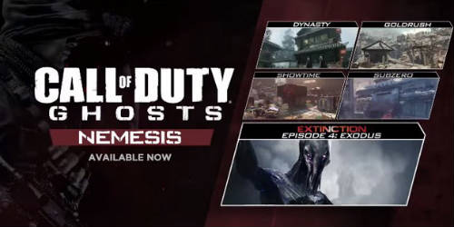 Call of Duty: Ghosts Nemesis DLC out now on PSN