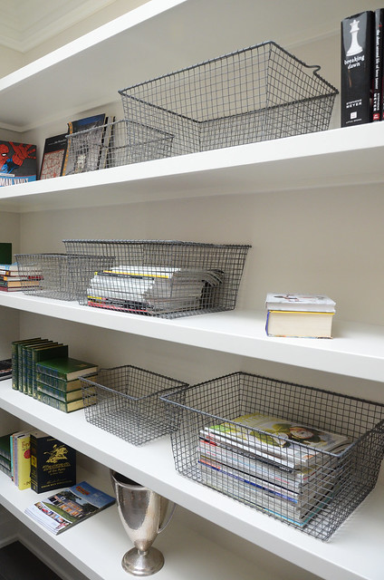 Storage ideas and shelves.Princess Margaret Showhome in Oakville