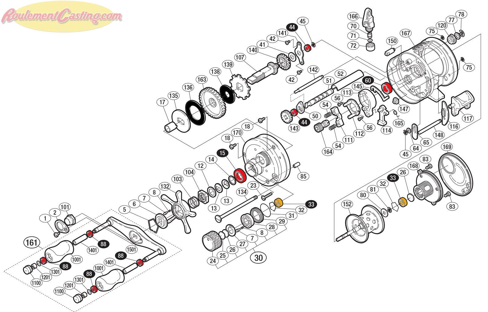 Schéma Shimano Conquest 04' 101DC