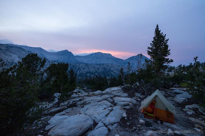Camp at Marie Lake
