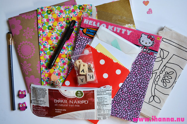 Pretty papers and fabric cover