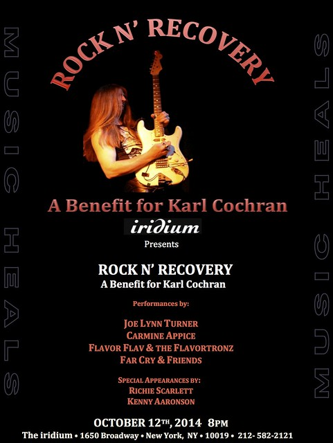 10/12/14 Rock N' Recovery: A Benefit for Karl Cochran @ Iridium, NYC, NY