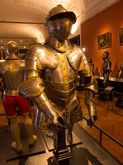 iron man(0.0), ancient history(0.0), convention(0.0), robot(0.0), comics(0.0), armour(1.0), art(1.0), machine(1.0), clothing(1.0), museum(1.0), sculpture(1.0),