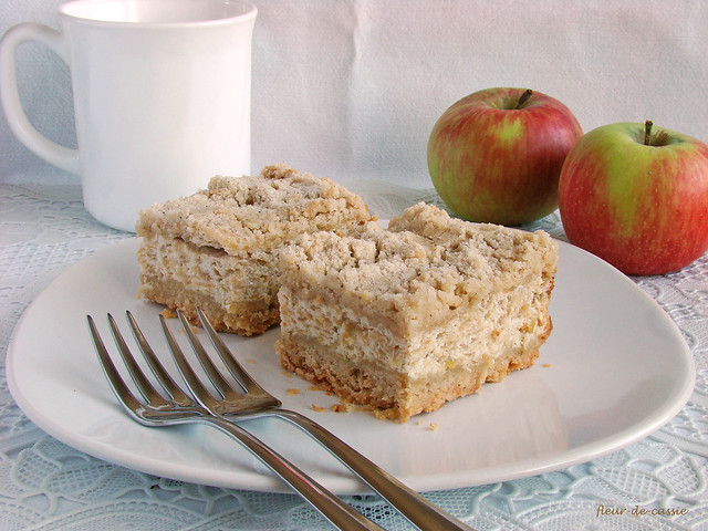 творожно-яблочный пирог 1