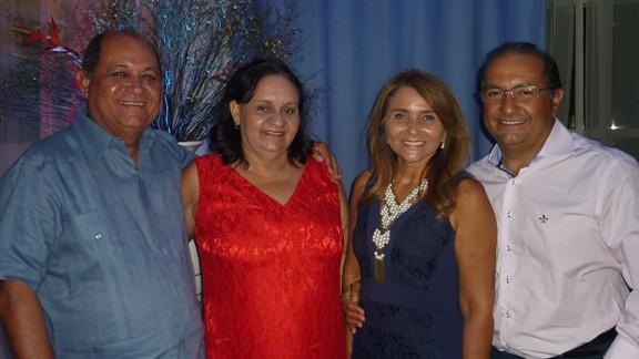 Edilson e Mary Muniz com Vera e Roberto Branco