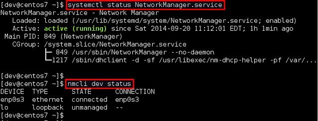 Setup network on centos 7