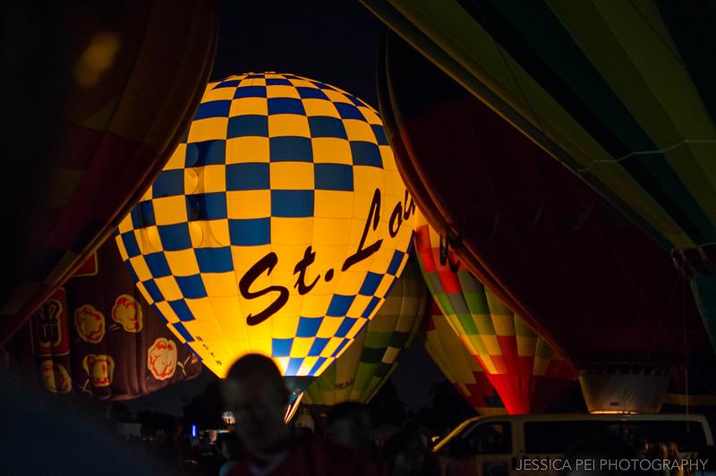 St. Louis STL hot air balloon glow