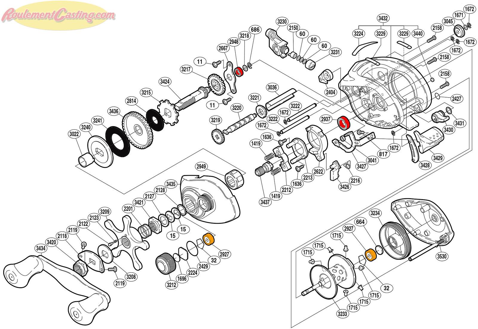 Schéma Shimano 05' Chronarch 101BPV