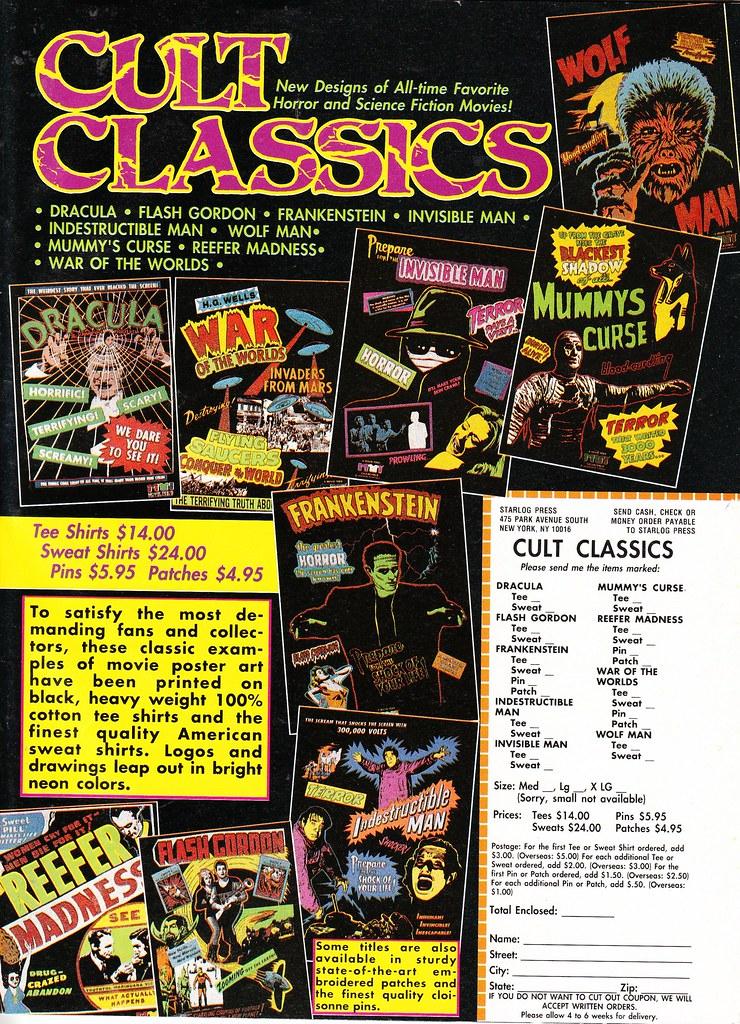 Cult Classics ad