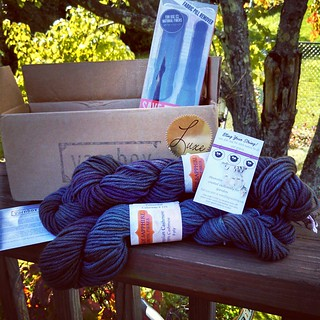 Second @yarnbox delivery of the week.. #Luxe arrived today! 100% Cashmere #yarn, cute #stitchmarkers and #SaveOurSweaters brush. #love #getyourkniton #knitstagram #yarnbox