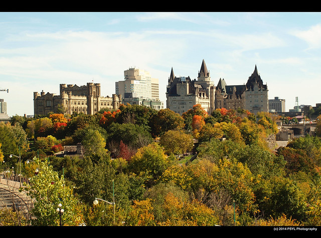 Castles in downtown Ottawa