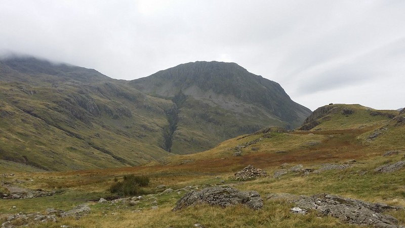 Looking up to Piers Gill and Lingmell #sh