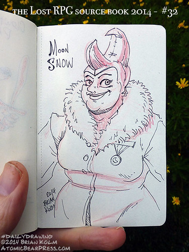 09-27-2014 #dailydrawing #lostRPG Moon Snow