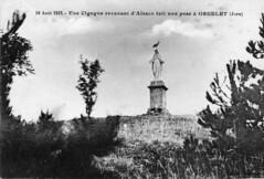 Une cigogne revenant d'Alsace fait une pose à Orgelet (Jura)