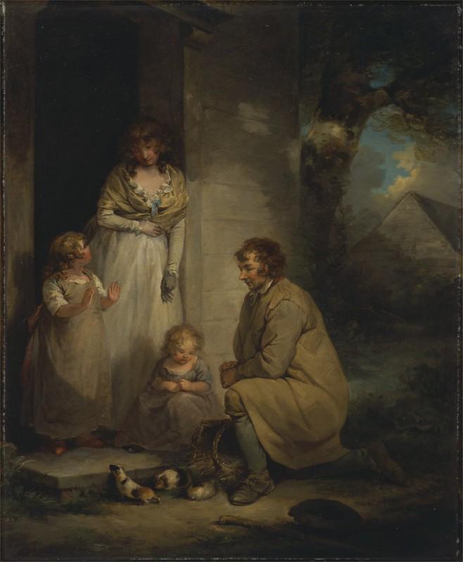 George Morland - Selling Guinea Pigs (c.1789)
