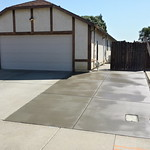 Broom Finish Concrete Driveway Extension Finished In Vacaville