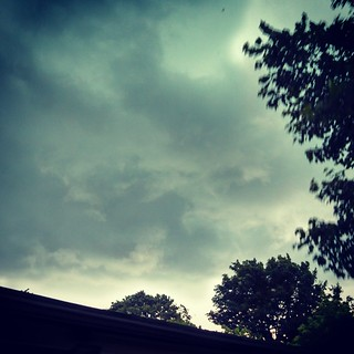 Dislike... storms rolling in #stormyskies #sky #clouds #trees #summer #thunderstorms #newhampshire