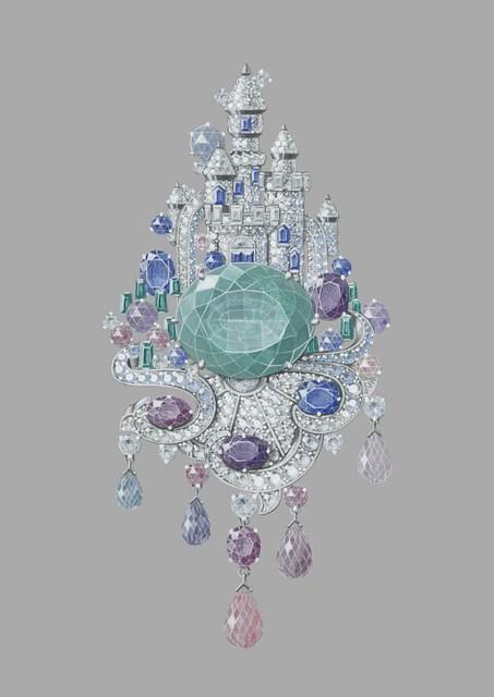 Clip Château enchanté peau d'ane van cleef arpels