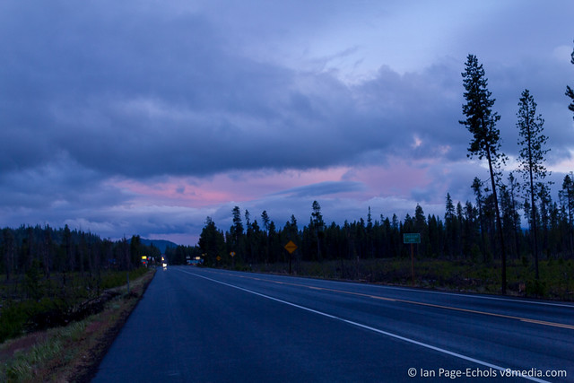Dark Pink Sunset