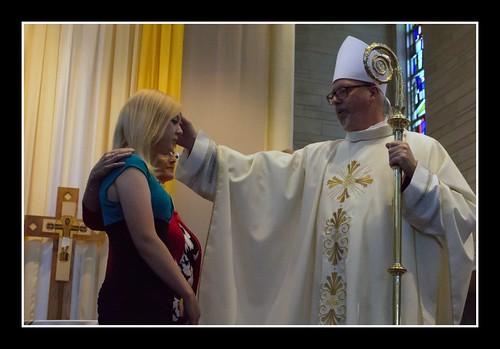 Katie's Confirmation with Bishop Coyne