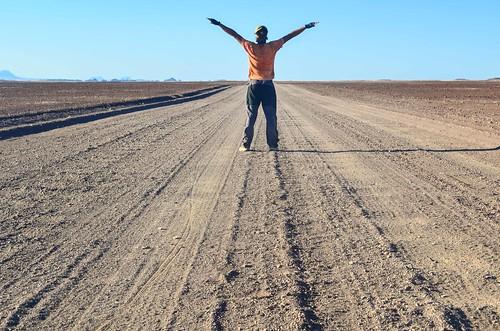 Superbes routes désertiques Damaraland, Namibie
