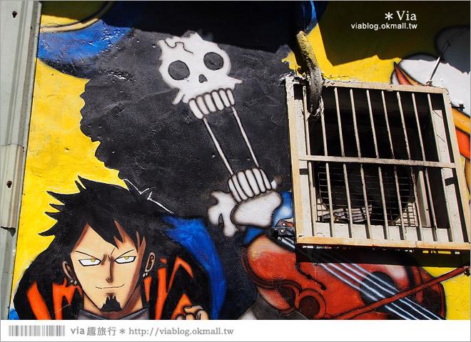 【台中海賊王彩繪】台中新遊點!小巷裡出現海賊王彩繪牆~ONE PIECE迷必訪!18