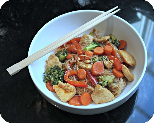 Sriracha Soy Chicken and Vegetable Vermicelli